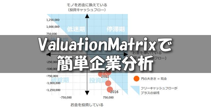 ValuationMatrix (バリュエーションマトリックス)で効率的な財務分析を!